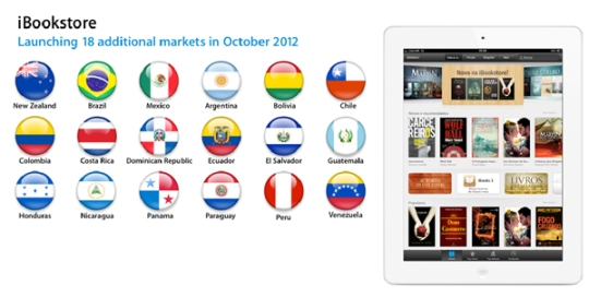 iBookstore launch in Latin America and New Zealand