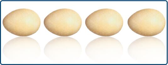 Como un huevo a una castaña